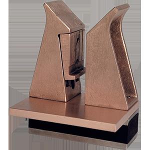 ERKO-Kontaktsystem mit Grunplatte und Gummisolierung